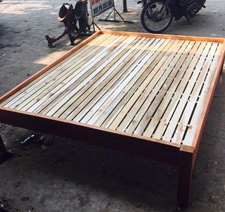 Giường ngủ chất lượng gỗ Tràm