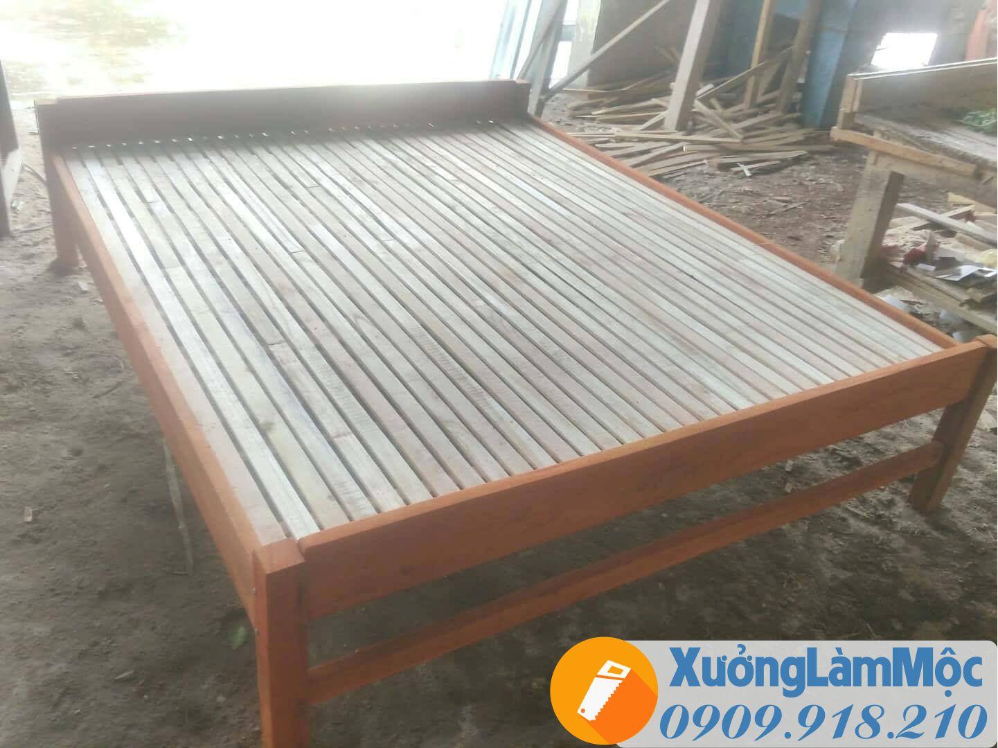 Xưởng mộc đóng giường gỗ cho công nhân giá rẻ tại Đà Nẵng