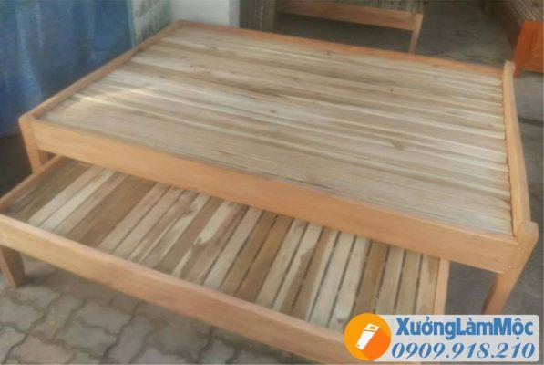 Mẫu giường gỗ tràm giá rẻ đà nẵng