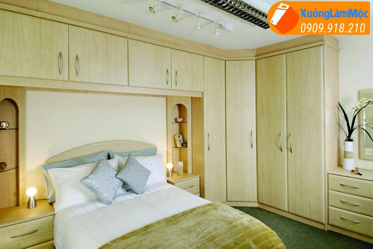 Tủ quần áo và sinh hoạt âm tường , tiết kiệm không gian căn phòng đáng kể