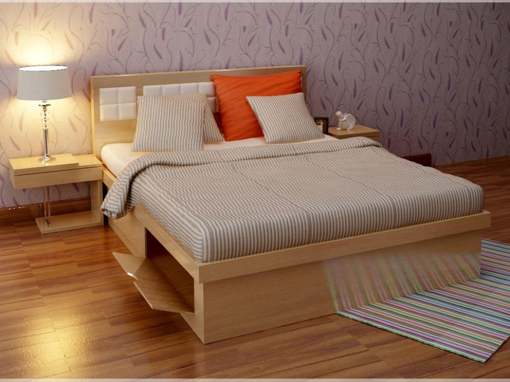 Giường ngủ gỗ Tần Bì