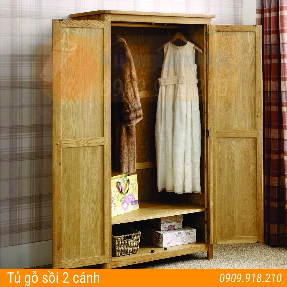 tủ quần áo gỗ sồi tại Đà Nẵng