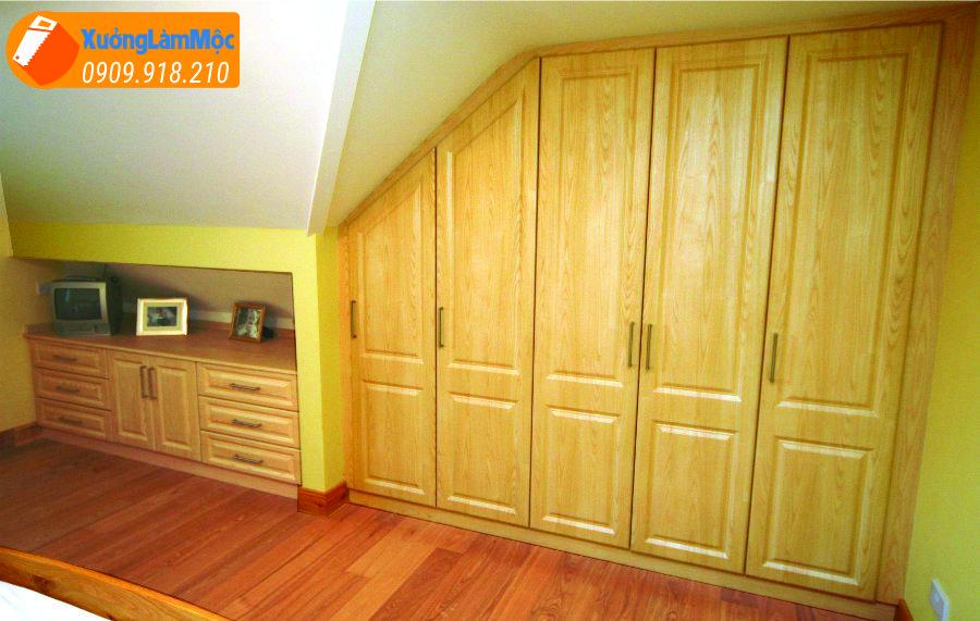 Tủ quần áo âm tường , được làm cùng với tường như một đồ trang trí, ít chiếm diện tích căn phòng