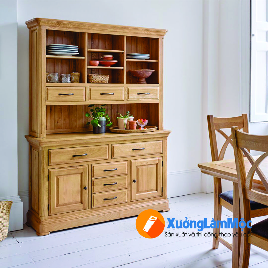 Tủ trang trí gỗ sồi