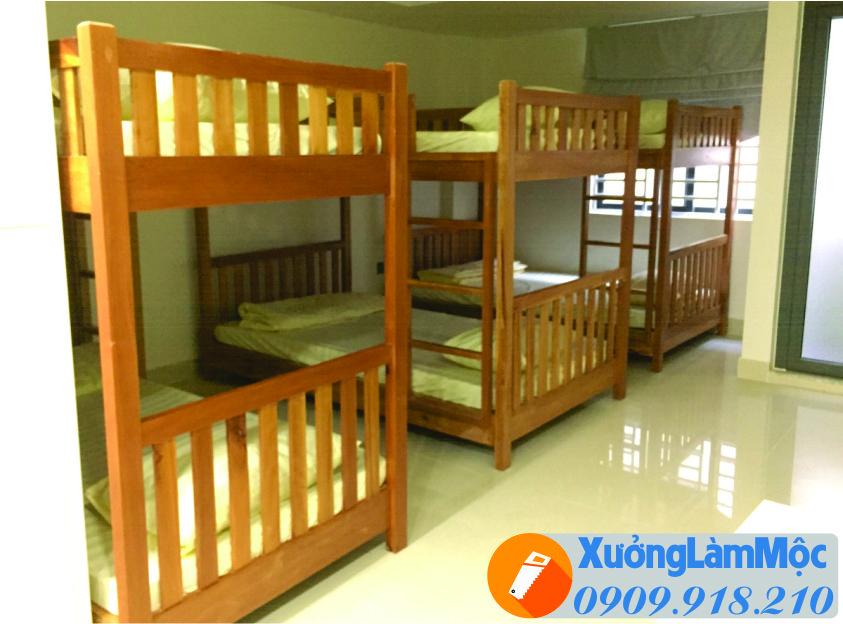 Sản phẩm giường ngủ 2 tầng hoàn thiện cho khách sạn mini , giường ngủ 2 tầng cũng được nhiều gia đình lựa chọn